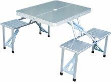 Table de camping pique-nique pliante aluminium 4