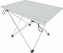 Table de camping pliable en alliage