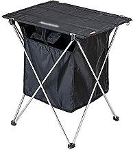 Table de camping pliable en aluminium avec sac de