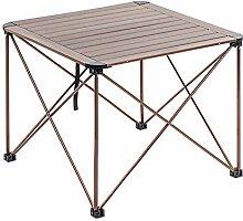 Table de camping pliante DX en aluminium, pliable,