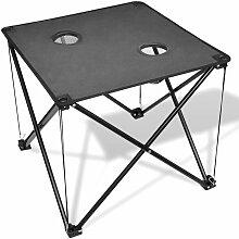 Table de camping pliante grise