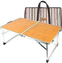 Table de camping pliante légère en aluminium