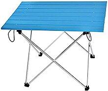 Table de camping pliante portable en aluminium