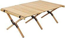 Table de camping pliante portable en bois pour