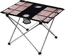 Table de camping pliante portable pour barbecue,