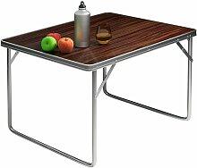 Table de camping pliante valise Aluminium Table