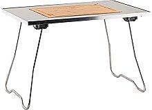 Table de camping portable avec pieds en aluminium,