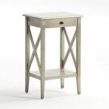 Table de chevet 1 étagère 1 tiroir bois massif