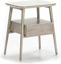Table de chevet 1 tiroir 1 niche bois massif
