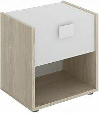 Table de chevet 1 tiroir 42x40x33cm