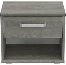 Table de chevet 1 tiroir chêne grisé - kifili -