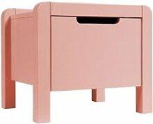 Table de chevet 1 tiroir rose chambre enfant -