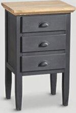 Table de chevet 3 tiroirs DB004579 Dialma Brown