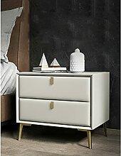 Table de chevet Art en cuir de bois de pin,