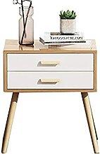 Table de chevet avec pieds en bois naturel - 2