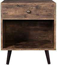 Table de chevet avec tiroir et étagère Vasagle