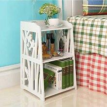 Table de chevet blanche pour la maison, étagère
