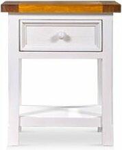 Table de chevet bois blanc 50x45x60cm -