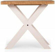 Table de chevet bois blanc 60x60x41cm -