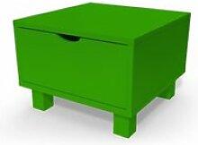 Table de chevet bois cube + tiroir  vert CHEVCUB-VE