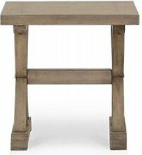 Table de chevet bois marron 55x55x55cm -