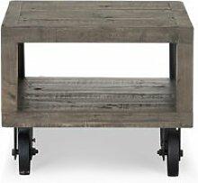 Table de chevet bois marron 60x60x50cm -