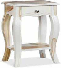 table de chevet bois massif de sesham 40 x 30 x 50