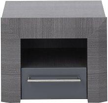 Table de chevet design BRITANY - 1 tiroir -