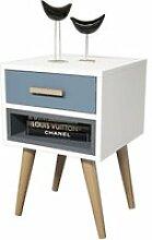 Table de chevet design safir - l. 40 x h. 61 cm -
