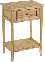 Table de chevet en bois 1 tiroir + 1 étagère