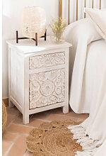 Table de chevet en bois Dimma Bois Blanc Sklum