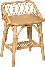 Table de chevet enfant, rotin H56 cm