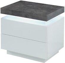 Table de chevet HALO II - 2 tiroirs - MDF Laqué -