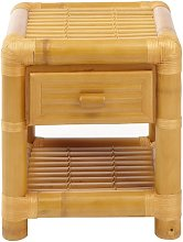Table de chevet MALINDI - 1 tiroir - Bambou
