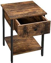 Table de chevet moderne avec tiroir Vasagle