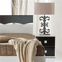 Table de chevet noir et blanc design DAFINA