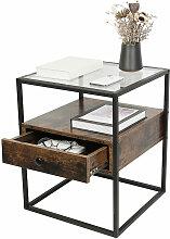 Table de chevet / table basse de style industriel