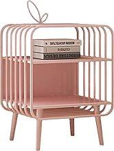 Table de Chevet Table de nuit rose avec 2 tiroirs