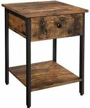 Table de chevet tiroir industriel helloshop26