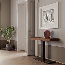 Table de console extensible CAPITAL ART en bois de
