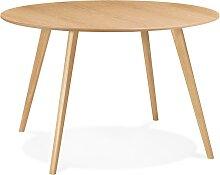 Table de cuisine ronde 'AMY' en bois