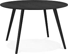 Table de cuisine ronde 'AMY' noire - ø