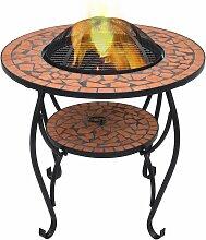 Table de foyer mosaique Terre cuite 68 cm Ceramique