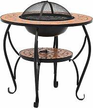 Table de foyer mosaïque Terre cuite 68 cm