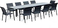 Table de jardin 10 personnes en aluminium et en
