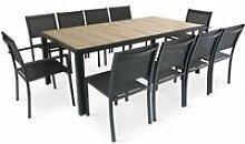 Table de jardin 10 places aluminium et céramique