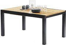 Table de jardin 6-10 personnes en teck et alu noir