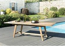Table de jardin 8/10 personnes - rectangulaire