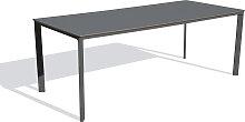 Table de jardin 8 places en aluminium laqué et