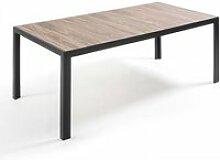 Table de jardin aluminium et céramique 10 places